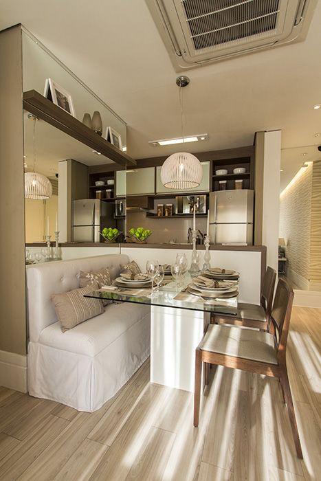Espelho Na Sala Pequena ~  estilo americana é a proposta ideal para uma sala de jantar pequena