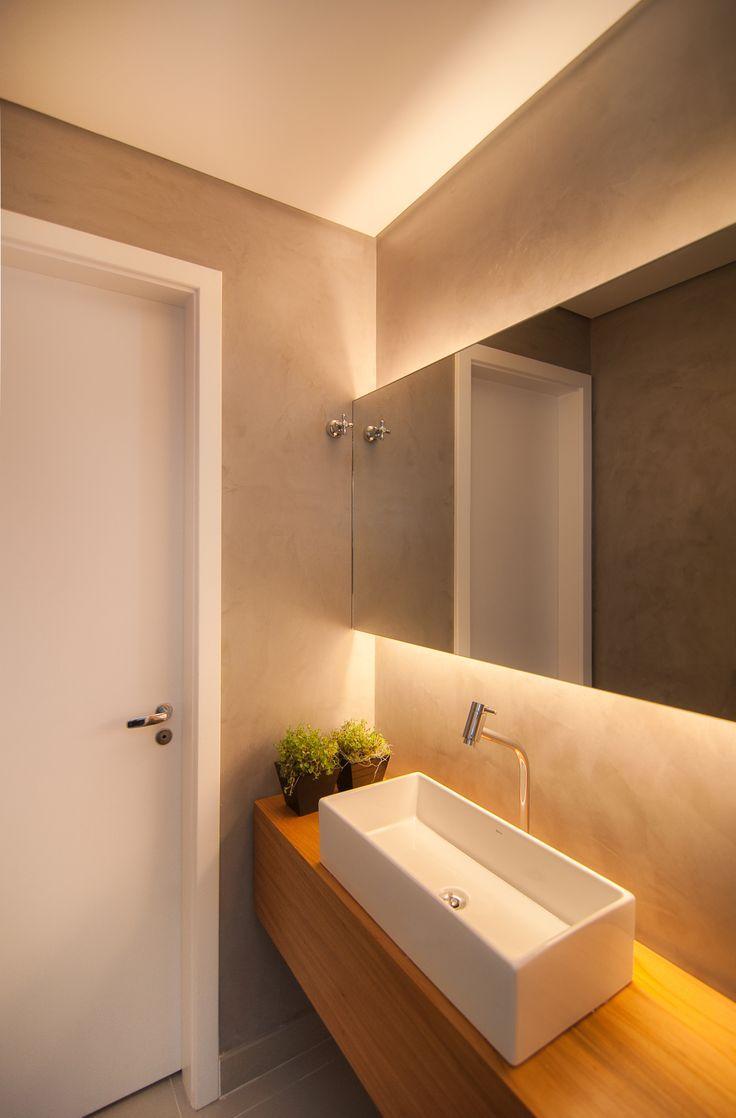 50 Espelhos para Banheiros Lindos e Inspiradores -> Pia De Banheiro Com Espelho