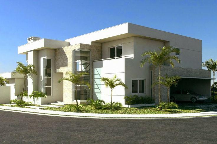 50 fachadas de casas de esquina lindas e inspiradoras for Modelos de departamentos pequenos para construir