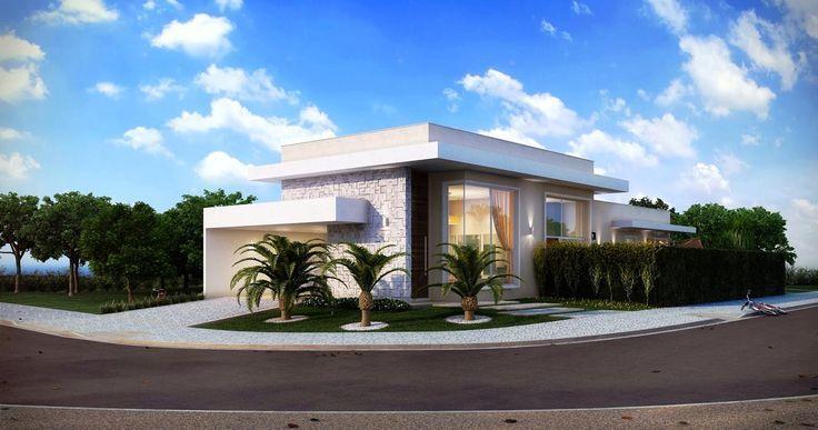 50 fachadas de casas de esquina lindas e inspiradoras - Ap construcciones ...