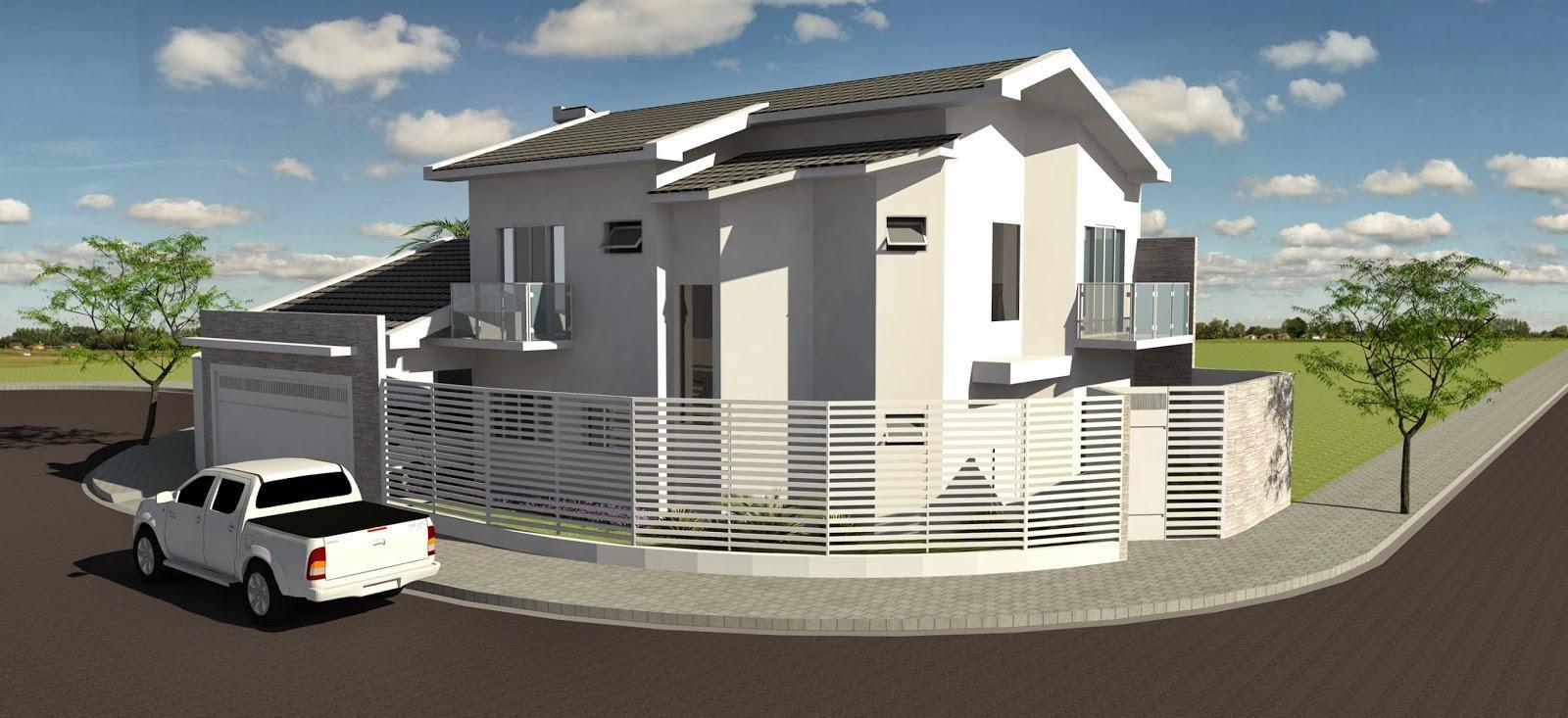 50 fachadas de casas de esquina lindas e inspiradoras for Disenos de casas en esquinas