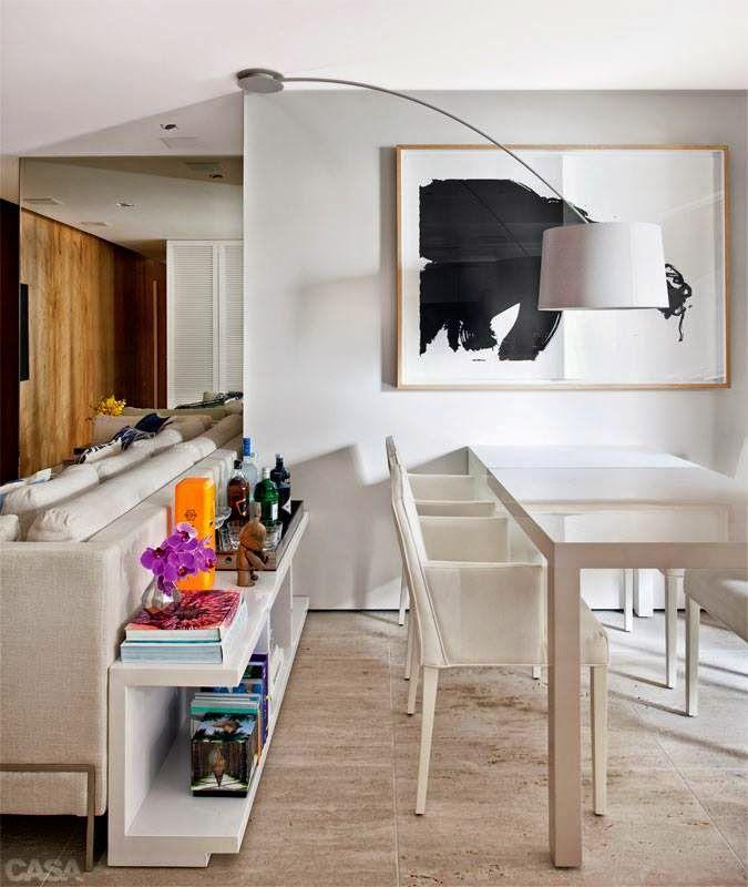 Sala De Jantar Pequena Branca ~ Imagem 2 – A cor branca na decoração traz mais luminosidade para o