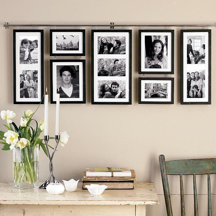 50 ideias de decora o com quadros e fotografias - Collage de fotos para pared ...