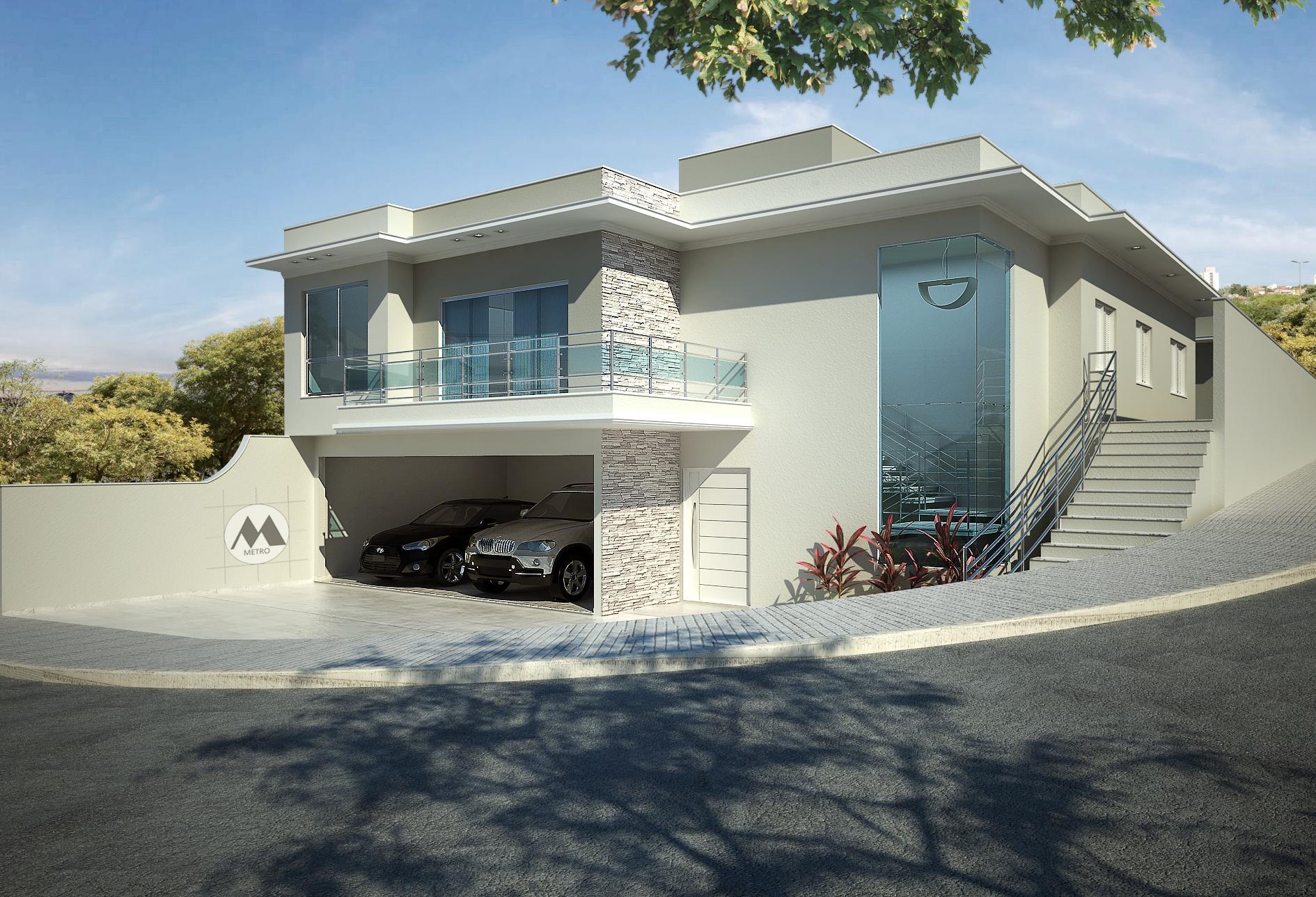 50 fachadas de casas de esquina lindas e inspiradoras for Modelo de casa esquinera