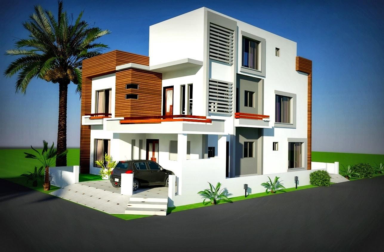 Front Elevation Of 6 Marla House : Fachadas de casas esquina lindas e inspiradoras
