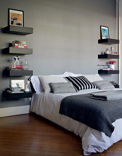 prateleiras pequenas para organizar o quarto