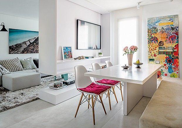 Banco Para Mesa De Sala De Jantar ~ Imagem 3 – Salas integradas por um painel incrível!