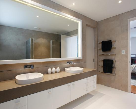 50 Espelhos para Banheiros Lindos e Inspirador -> Banheiro Com Pastilha Em Volta Do Espelho