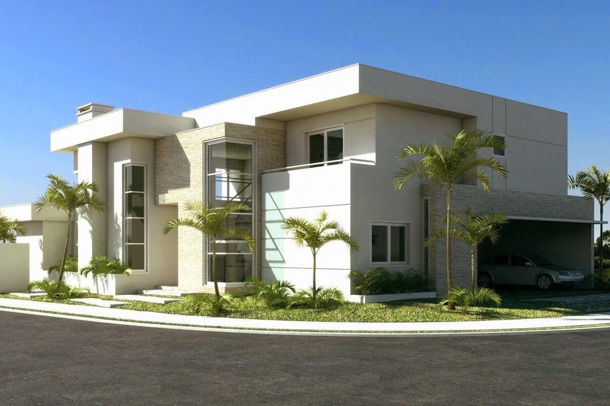 50 fachadas de casas de esquina lindas e inspiradoras for Fachadas apartamentos modernos