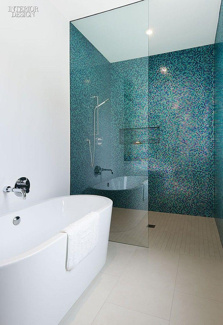 50 banheiros decorados com pastilhas melhores fotos - Kleine badkamer met douche al italiaanse ...