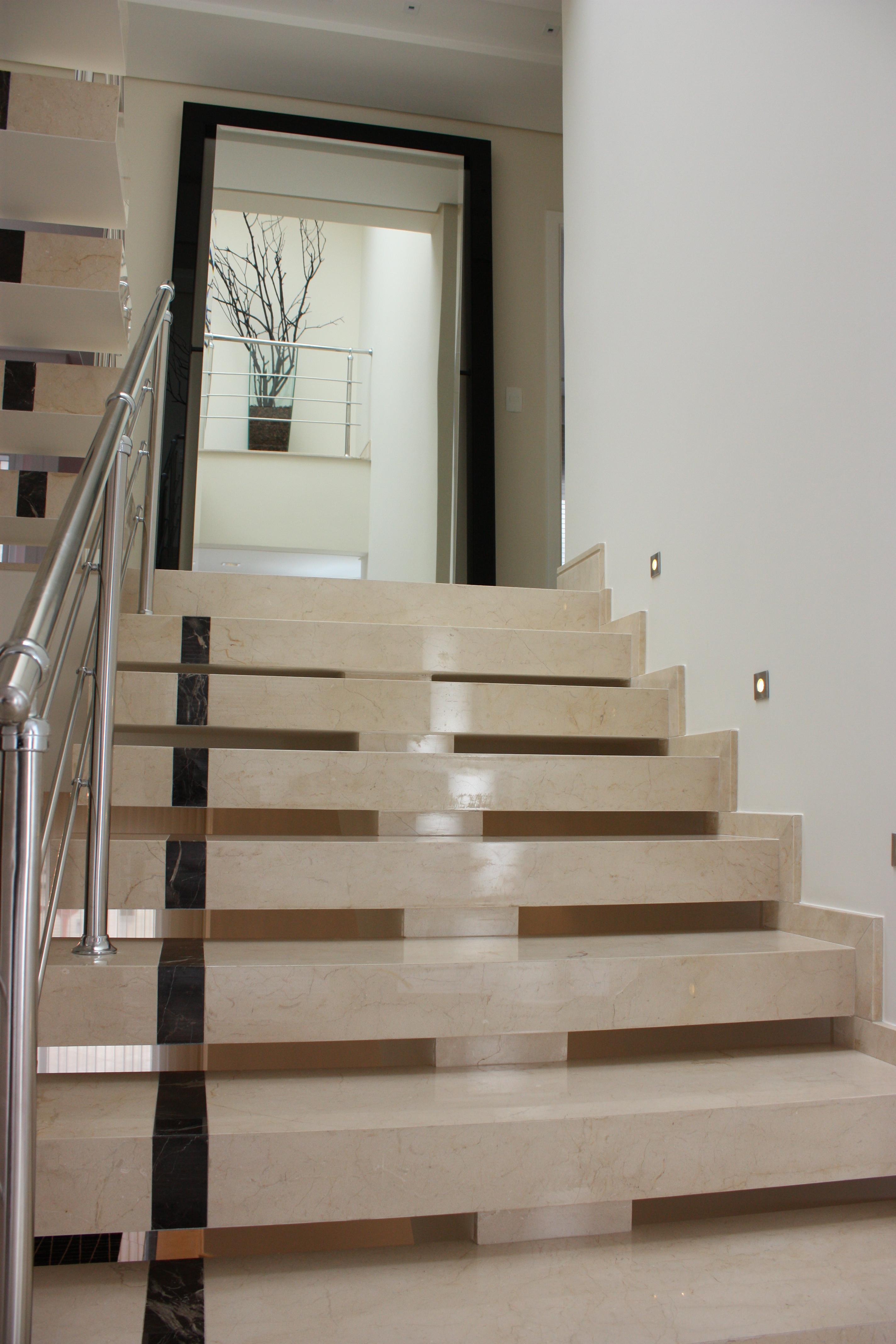 escadas de granito : 50 Escadas de Granito Elegantes para voc? se Inspirar