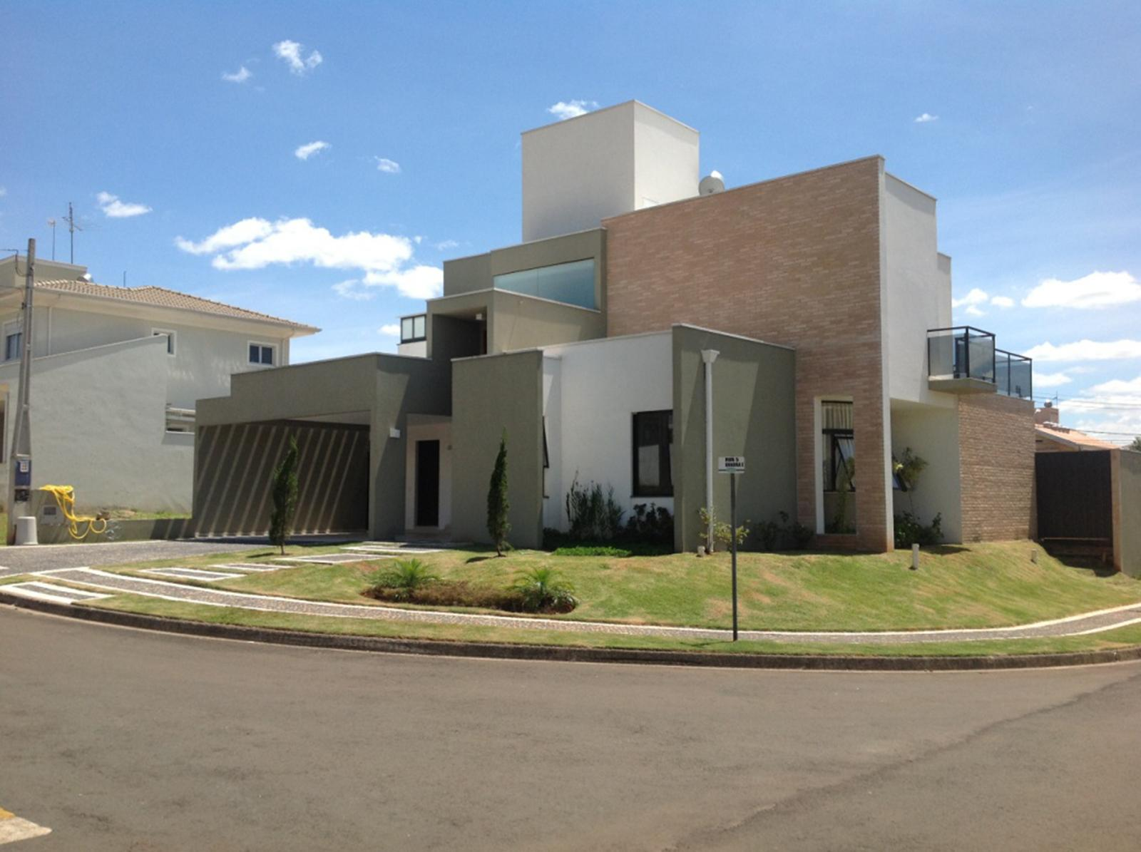 #2360A8 50 Fachadas de Casas de Esquina Lindas e Inspiradoras 270 Janelas De Vidro Recife Pe
