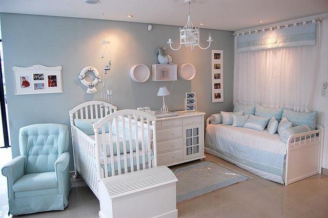 50 quartos de beb s para meninos decorados e criativos for Decoracion habitacion de bebe varon