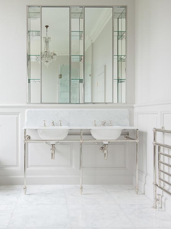 50 Espelhos para Banheiros Lindos e Inspiradores -> Armario De Banheiro Embutido Com Espelho
