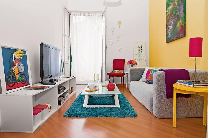 85 ideias de cores para sala de estar fotos lindas for Salas muy pequenas