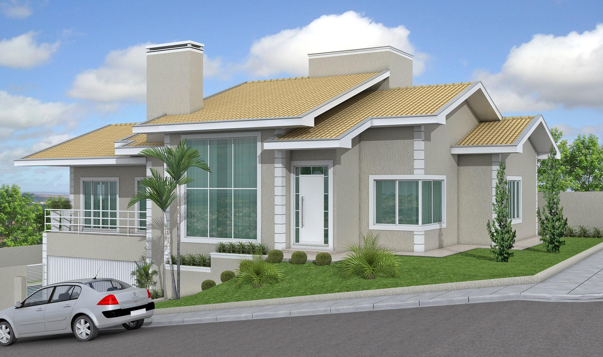 50 fachadas de casas de esquina lindas e inspiradoras for Modelos de fachadas de casas