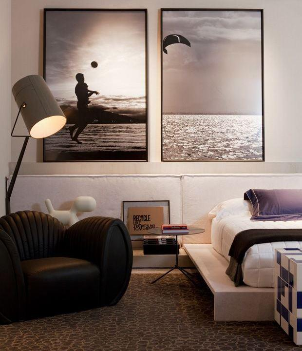 50 ideias de decora o com quadros e fotografias for Quadros dormitorio