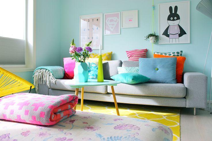 Azul bebê também ganha espaço para uma proposta de sala de estar ~ Sala De Estar Ninos