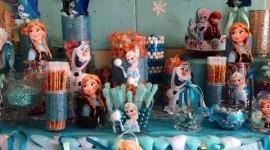 Decoração de festa infantil Frozen