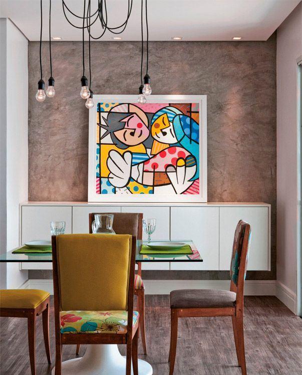 Fotos De Telas Para Sala De Jantar ~ Imagem 6 – Que tal inverter de forma diferente seu quadro?