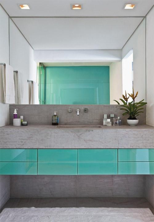 50 Espelhos para Banheiros Lindos e Inspiradores -> Lavatorio Banheiro Moderno