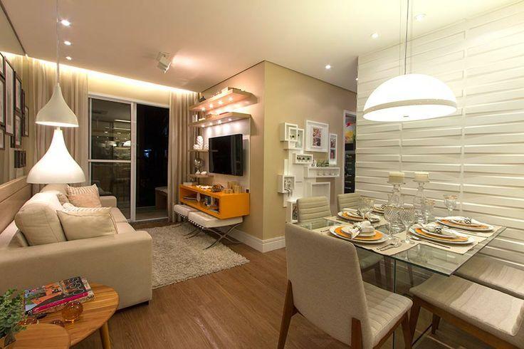 70 salas de jantar pequenas lindas e inspiradoras for Como decorar un aparador