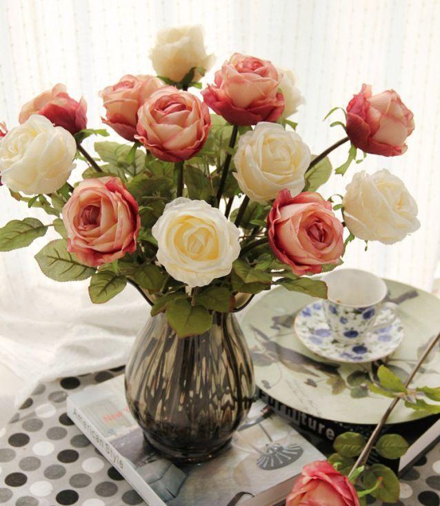 50 Arranjos de Flores Artificiais na Decoração -> Flores Artificiais Para Decoracao De Banheiro