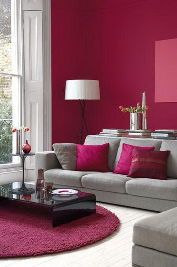 Imagem 38 – As almofadas acompanharam a tonalidade do rosa da parede ...