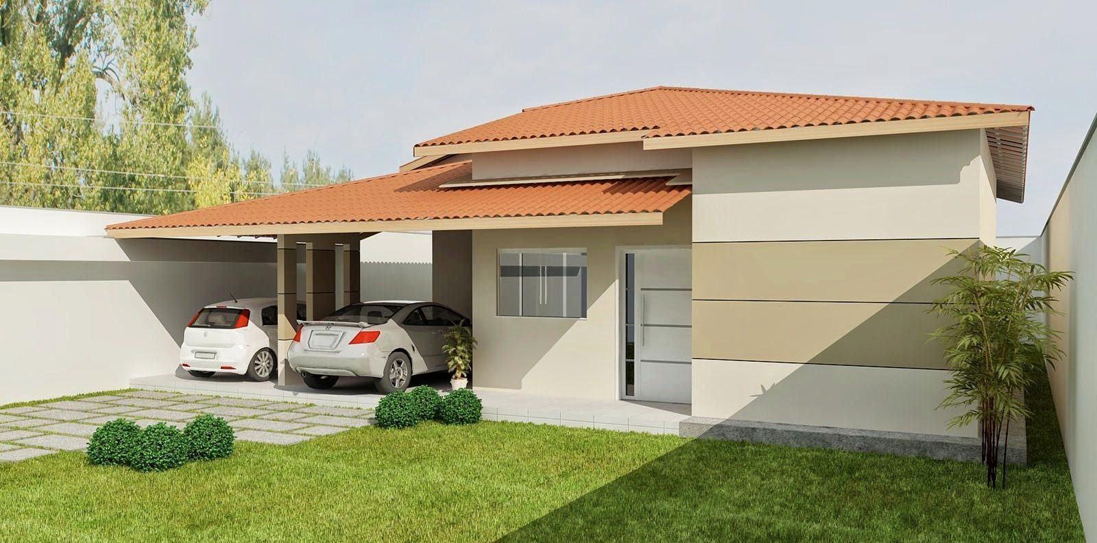 109 fachadas de casas simples e pequenas fotos lindas for Ideas fachadas de casas pequenas