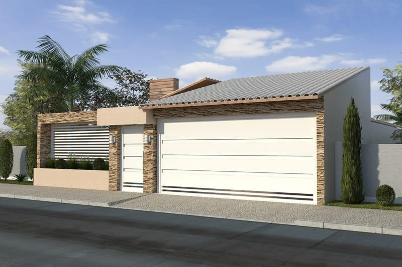 109 fachadas de casas simples e pequenas fotos lindas for Casa moderna 7x20