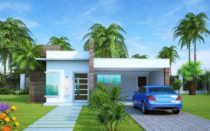 109 fachadas de casas simples e pequenas fotos lindas for Casas minimalistas modernas pequenas