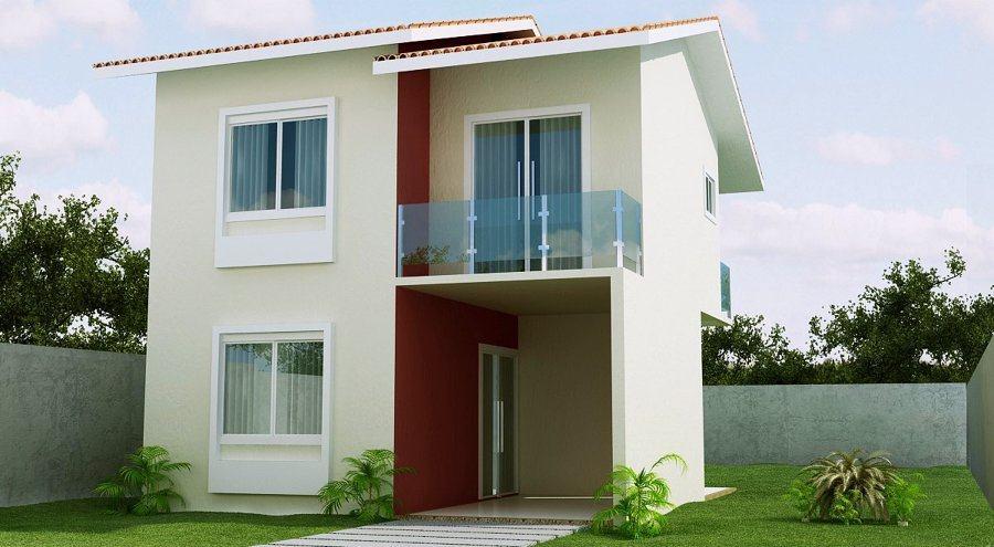 109 fachadas de casas simples e pequenas fotos lindas for Fachadas de casas pequenas de 2 pisos
