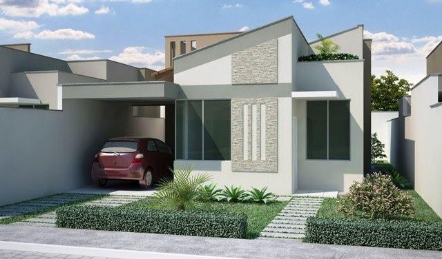 fachada casa simples pequena 94 - Fachadas De Casas Pequeas