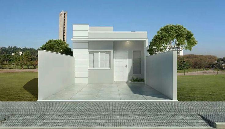 fachada casa simples pequena 97 - Fachadas De Casas Pequeas