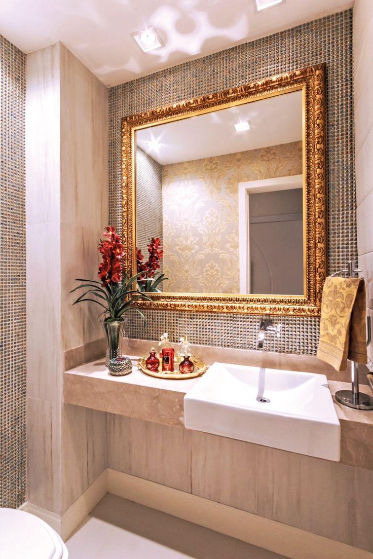 50 Banheiros com Metais e Detalhes Dourados -> Cuba Para Banheiro Salvador Bahia