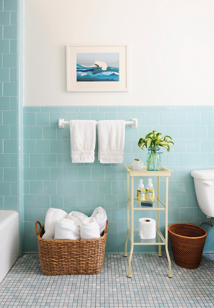 50 Banheiros Coloridos Lindos e Inspiradores  Fotos -> Cuba De Banheiro Roxa