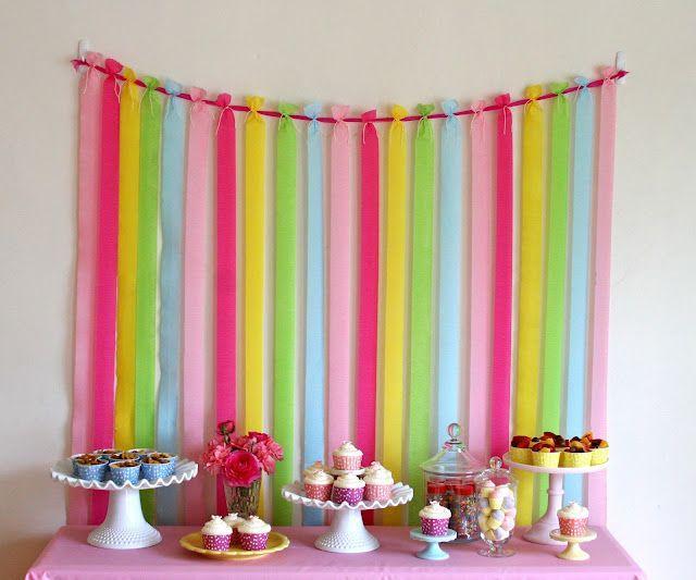 Decoração de festa simples colorido