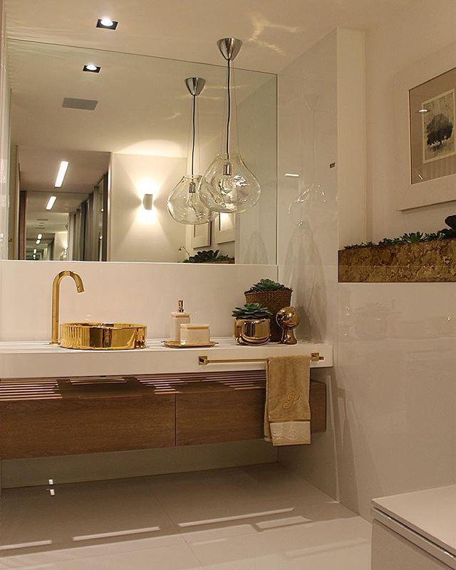 50 Banheiros com Metais e Detalhes Dourados -> Cuba Para Banheiro No Df