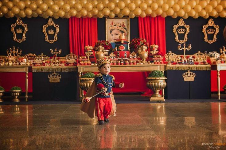 50 Fotos de Decoraç u00e3o para Festa Infantil Provençal # Decoração De Festa Infantil Realeza Luxo