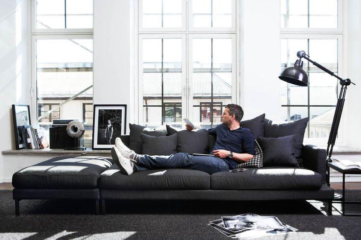 imagem u o bacana desse modelo que alm de sof ele serve como assento na parte oposta dele