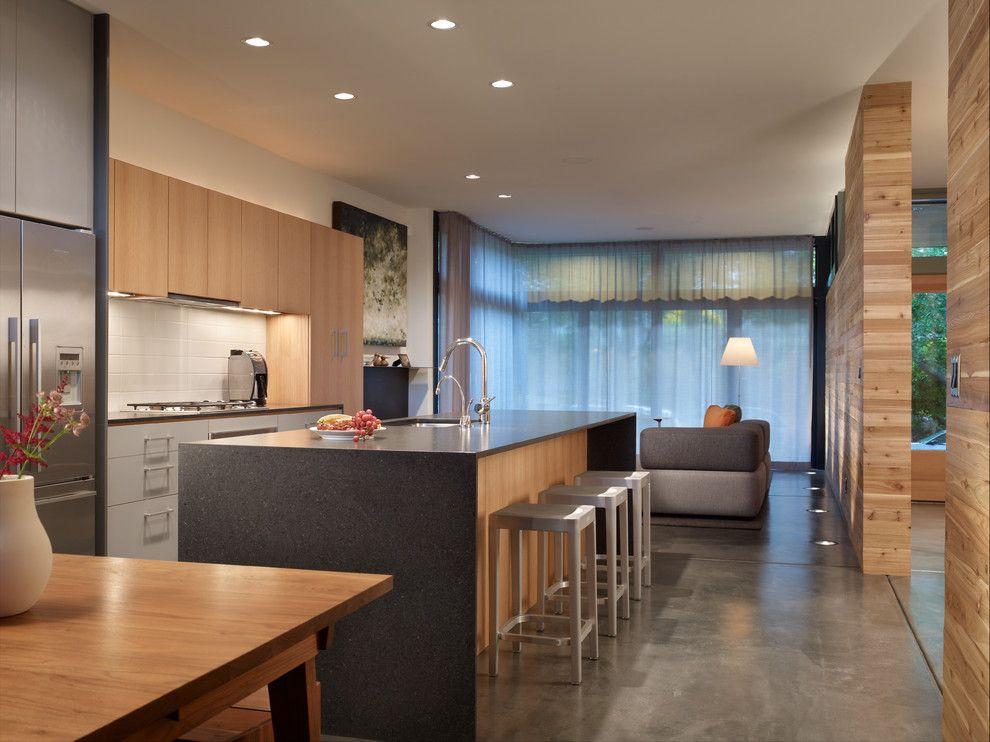 Cozinhas americanas com salas interligadas 85 fotos lindas - Casas americanas interiores ...