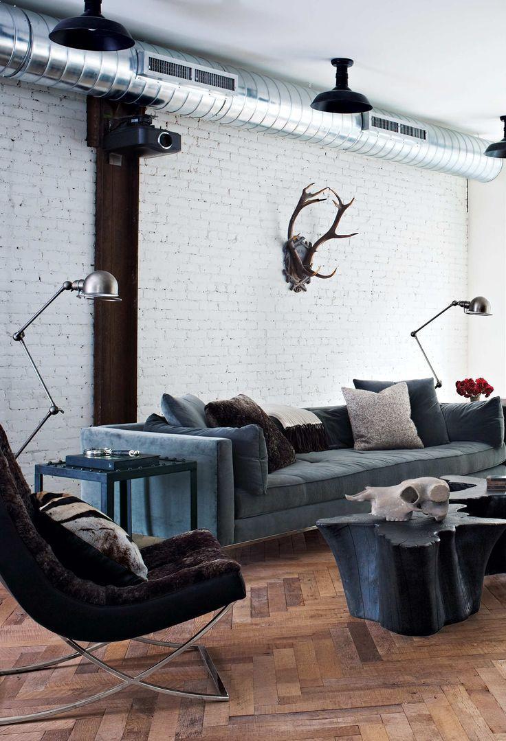 Para uma sala de estar com estilo masculino.