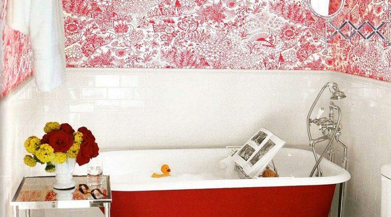 60 banheiros vermelhos lindos para se inspirar