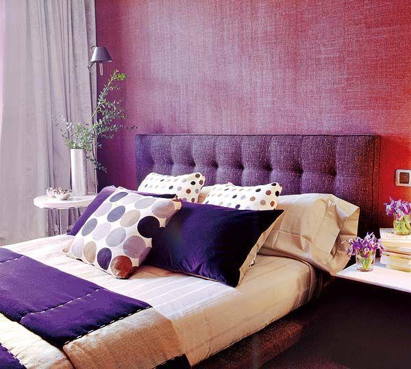 60 Quartos roxos decorados