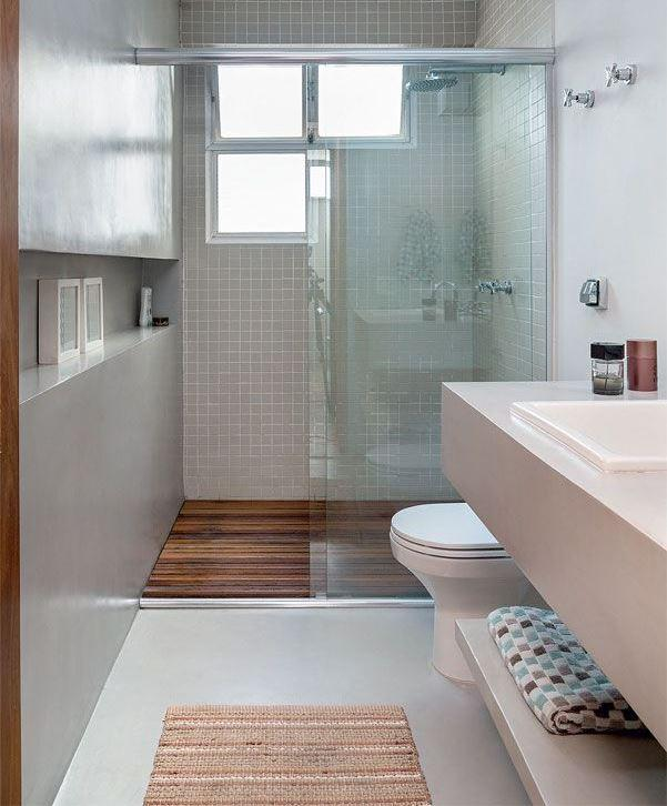 60 Nichos para Banheiros  Ideias e Fotos Lindas -> Banheiro Simples De Sitio