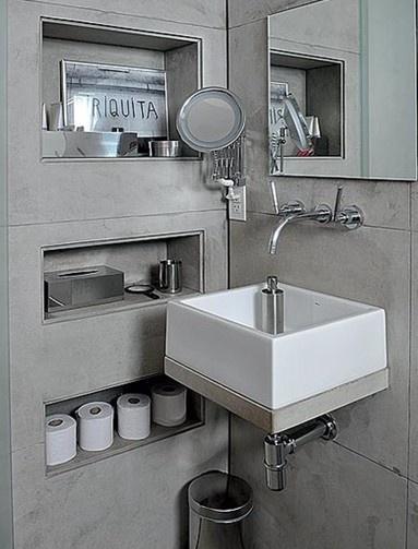 60 Nichos para Banheiros  Ideias e Fotos Lindas -> Nicho Banheiro Dimensões