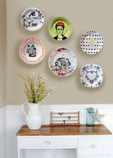 Pratos na parede decora o com 60 fotos e ideias - Platos decorativos modernos ...