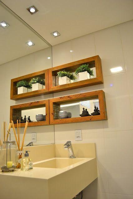 Nicho De Banheiro Madeira : Nichos para banheiros ideias e fotos lindas