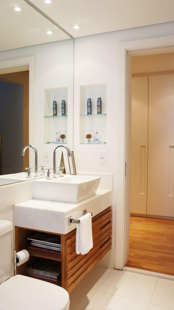 60 Nichos para Banheiros  Ideias e Fotos Lindas -> Nicho Armario Banheiro