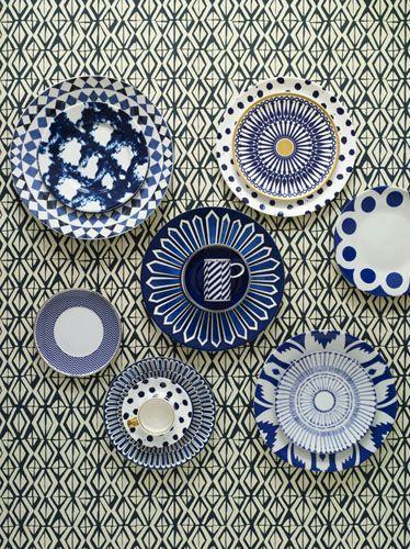 Veranda Blue & White Plates
